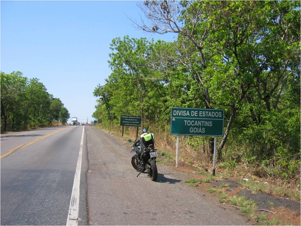 States border: Goiás and Tocantins
