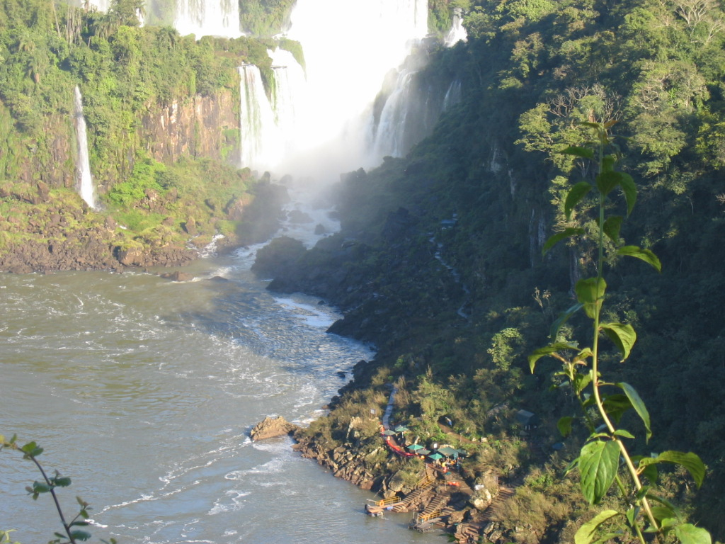 The power of Nature is a mighty presence at the Iguassu Falls.  A World Natural Heritage site.