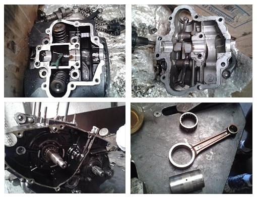 Images of the internal parts of my Sundown STX Motard engine, on the 6th of August, 2016.