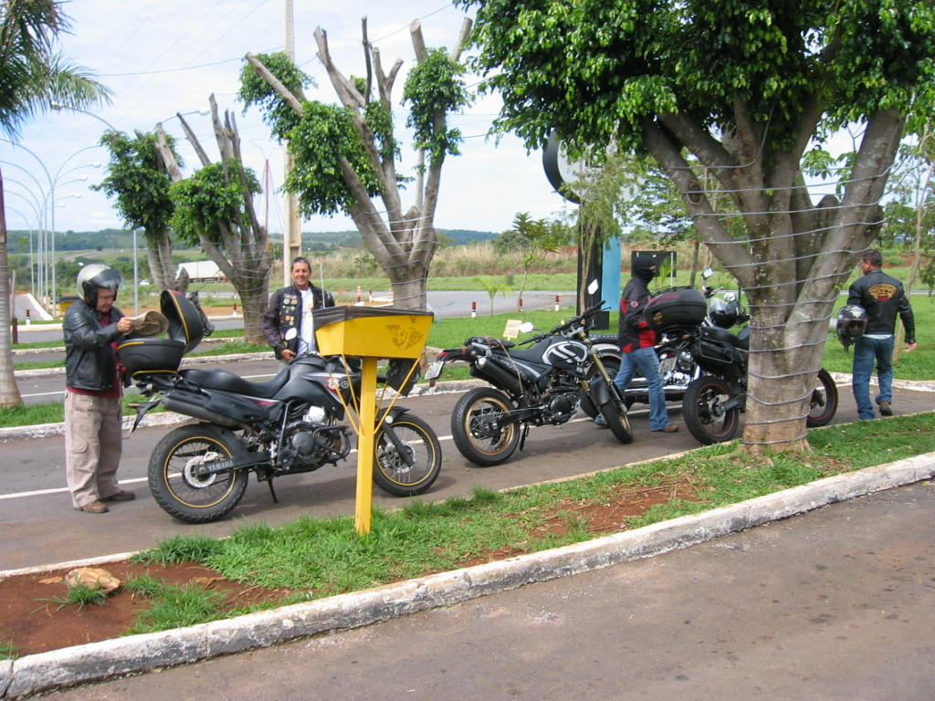 Our bikes parked at Ficus Restaurant - GO of the 16th of November, 2013.