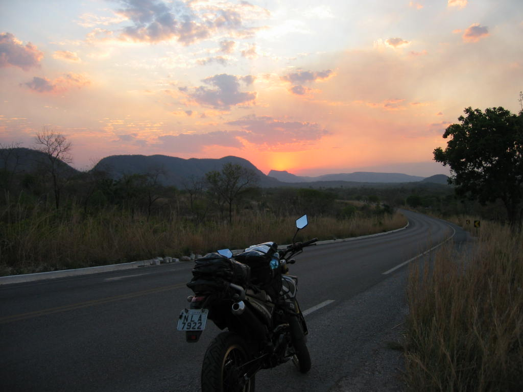 Sunset at the surroundings of Arraias - TO on the 30th of September, 2015.